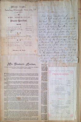 Teresa Vanderburgh's Musical Scrapbook #1 - Pamphets and Letters