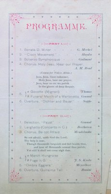 Teresa Vanderburgh's Musical Scrapbook #1 - Program for a Recital by Frederick Archer