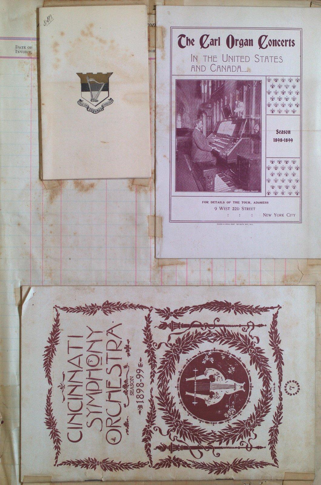 Teresa Vanderburgh's Musical Scrapbook #2 - Piano, Orchestra and Organ Concert Programs