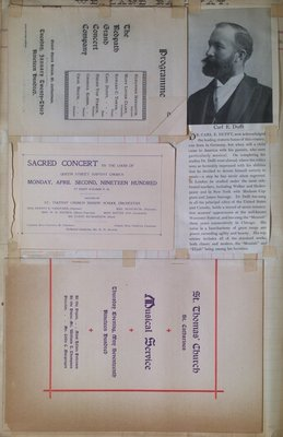 Teresa Vanderburgh's Musical Scrapbook #2 - Concert Programs and a Short Biography