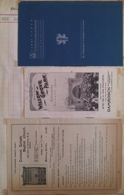 Teresa Vanderburgh's Musical Scrapbook #2 - Concert Program, Church Service Program & Commencement Program
