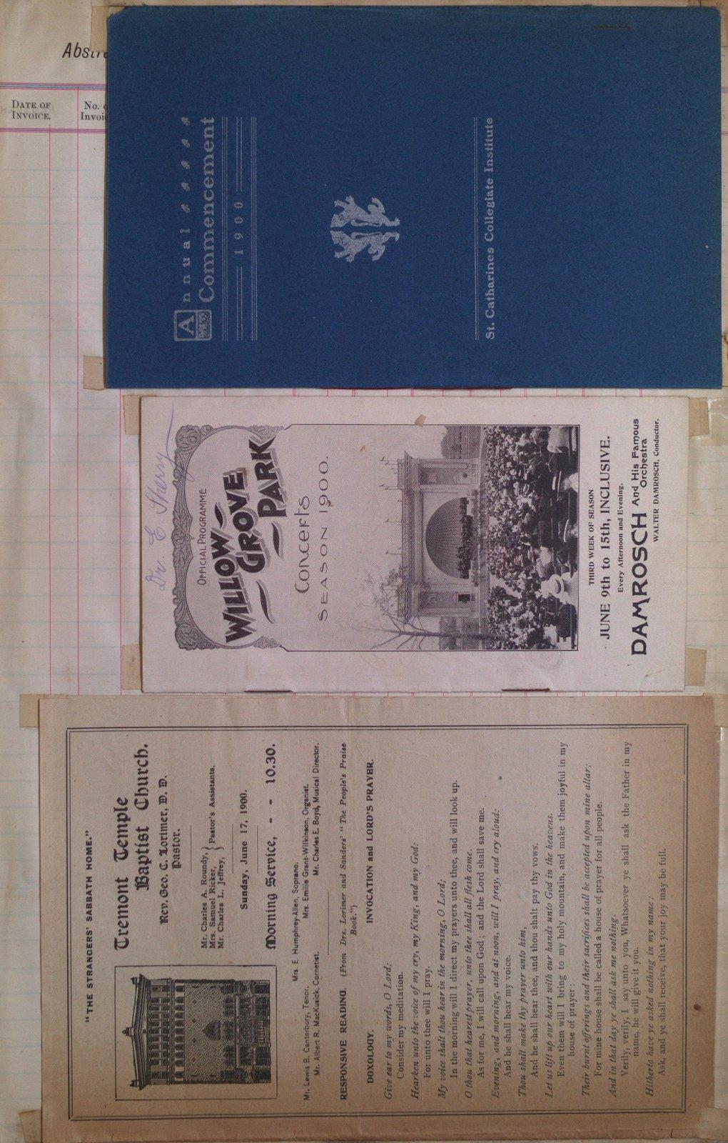 Teresa Vanderburgh's Musical Scrapbook #2 - Concert Program, Church Service Program & Commencement Program