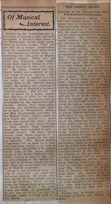 Teresa Vanderburgh's Musical Scrapbook #2 - Westminster Abbey Choir Newspaper Announcement