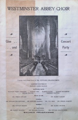 Teresa Vanderburgh's Musical Scrapbook #2 - Westminster Abbey Choir Sacred Program