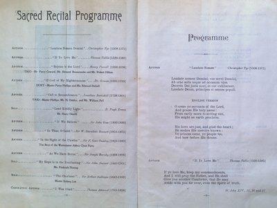 Teresa Vanderburgh's Musical Scrapbook #2 - Westminster Abbey Choir Sacred Program