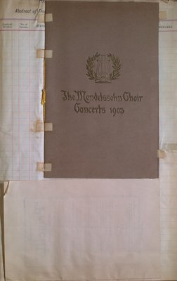 "Teresa Vanderburgh's Musical Scrapbook #2 - Program for  Mendelssohn Choir Concerts & The Comic Opera, ""Pricilla"""