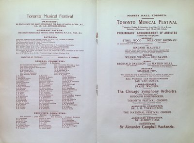 Teresa Vanderburgh's Musical Scrapbook #2 - Program for the First Cycle of Music Festivals