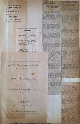 Teresa Vanderburgh's Musical Scrapbook #2 - Sacred Concert & Organ Recital