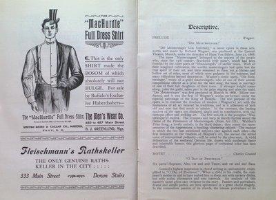 Teresa Vanderburgh's Musical Scrapbook #2 - Program forThe Pittsburgh Orchestra & The Mendelssohn Choir Concert