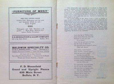 Teresa Vanderburgh's Musical Scrapbook #2 -  Program for The Pittsburgh Orchestra & The Mendelssohn Choir Concert