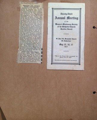 Anniversary of Church Union and Program for the 23rd Annual Meeting of the Woman's Missionary Society