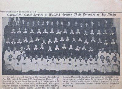 Welland Avenue Choir Candlelight Carol Service