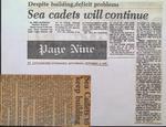 Sea Cadets Will Continue