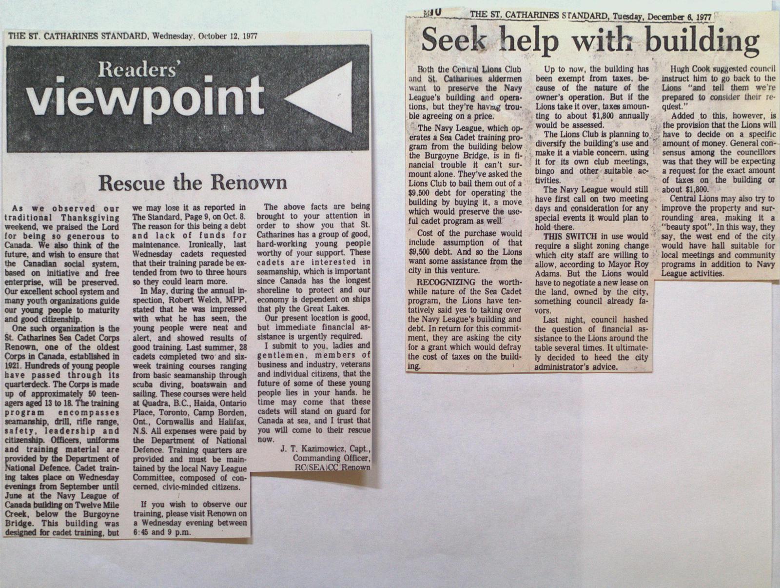 """""""Renown"""" Seeks Help with Building"""