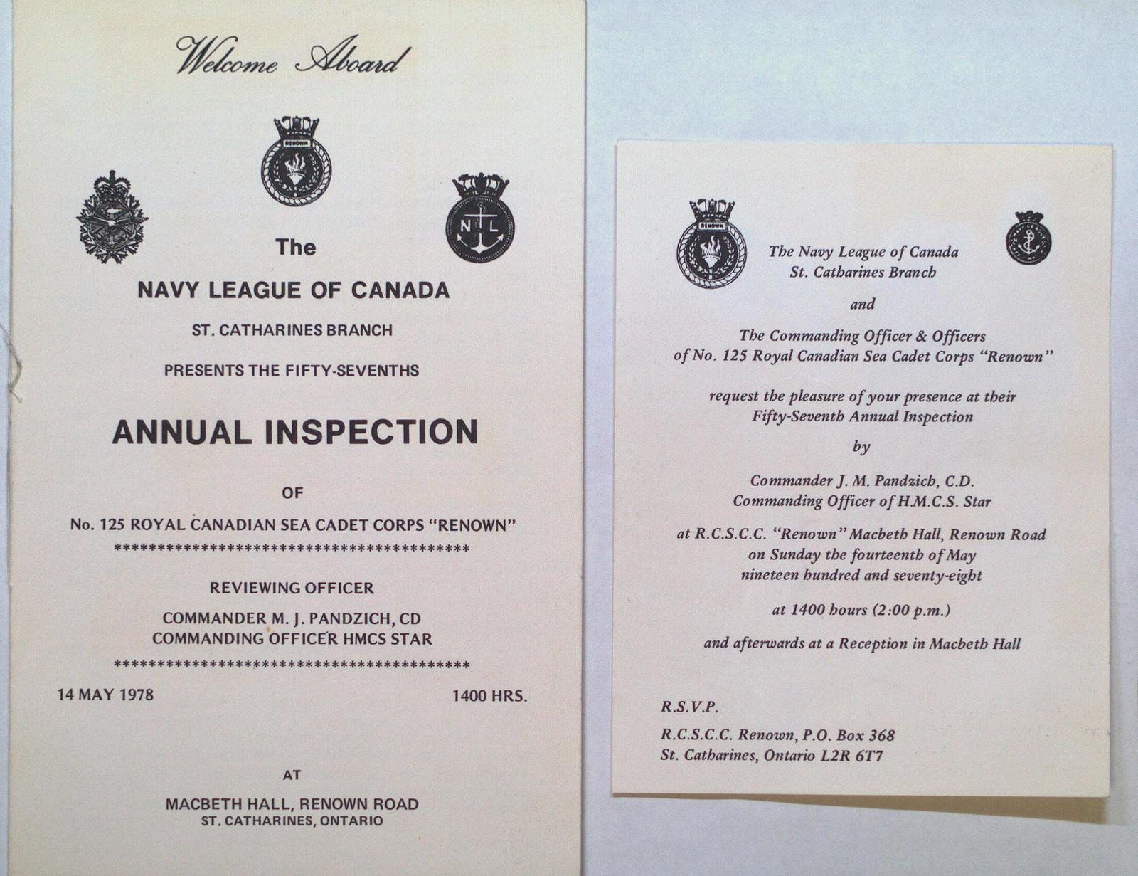 """57th Annual Inspection of the Royal Canadian Sea Cadet Corps """"Renown"""""""
