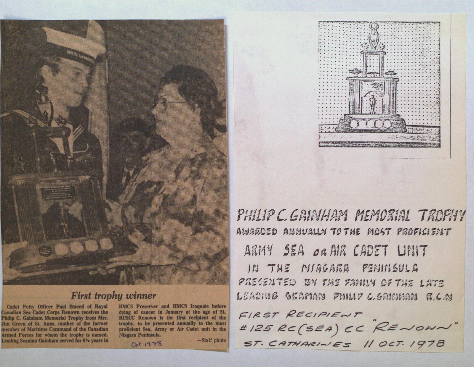 Philip C. Gainham Memorial Trophy