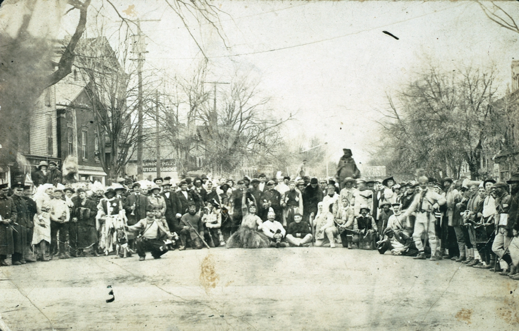 A Group in the Middle of Queen Street, Niagara-on-the-Lake