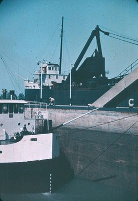 Ships in the Twin Flight Locks on the Welland Ship Canal