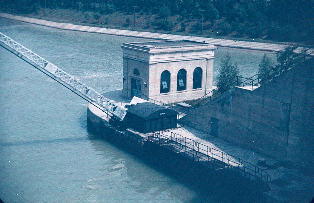 The Entrance of a Lock on the Welland Ship Canal