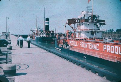 Two Ships in a Lock on the Welland Ship Canal