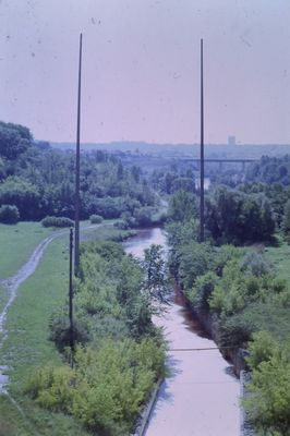 The Old Welland Canal and the Tall Cement Hydro Poles
