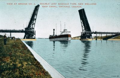 The Welland Ship Canal and the Homer Bridge