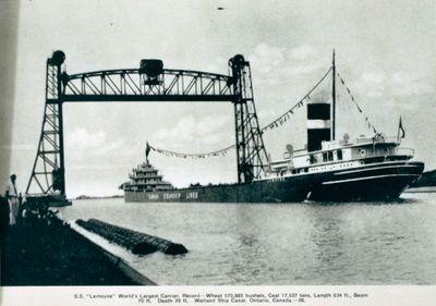 """S.S. Lemoyne"" on the Welland Ship Canal"