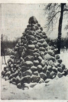 A Cairn at the Homer Cemetery