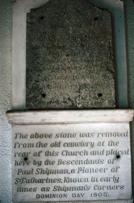 The Gravestone of Paul Shipman