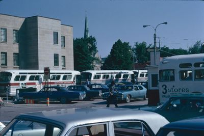 Buses at St. Catharines Market Square