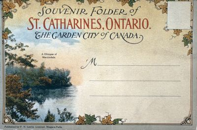 The Cover of a Souvenir Folder of St. Catharines