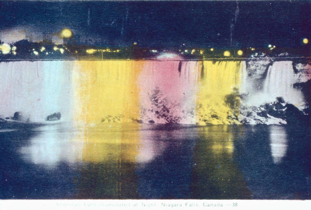 The American Falls Illuminated