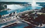 An Aerial View of Niagara Falls and Oaks Garden