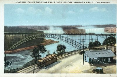 Niagara Falls and the Fallsview Bridge