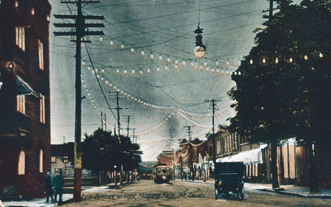Erie Avenue at Night
