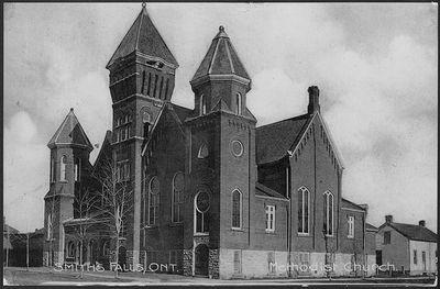 Methodist Church Smith's Falls, Ont. Postcard