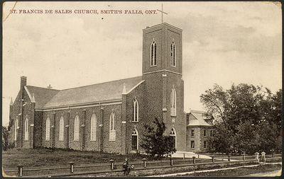 St. Francis de Sales Church, Smith's Falls, Ont. Postcard