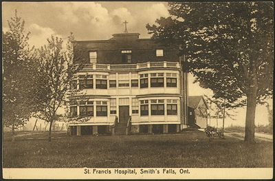 St. Francis Hospital, Smith's Falls, Ont. Postcard