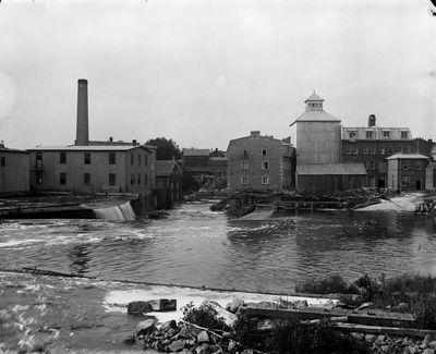 Flour mills, Smiths Falls by William J. Topley (1845-1930)