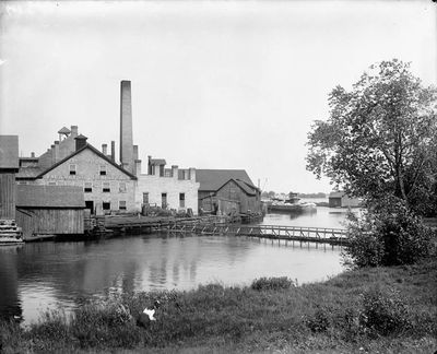 Frost & Wood, foundry and machine shop, Smiths Falls by William J. Topley (1845-1930)
