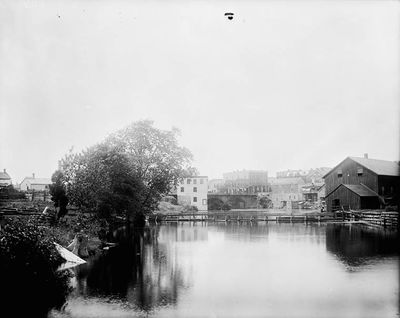 Mills along the Rideau River, Smiths Falls by William J. Topley (1845-1930)