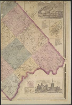Map of the counties of Lanark and Renfrew, Canada West, from actual surveys under the direction of H.F. Walling