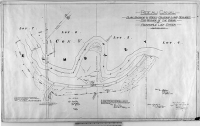 Rideau Canal. Plan showing in green coloring land required for service of the canal at Poonamalie Lock Station...(signed) Josias Richey, Provincial Surveyor, Smith's Falls, 30th January, 1850. Royal Engineering Office, Bytown, 24th January, 1851. (signed) Charles E. Ford, Capt. Rl. Engineers. (signed) F. W. Whingates, Lt. Col. Commg. R. Engineers, 17th Sept., 1851. Copied by (sgd.) H. Williams, Lt. Royal Engrs., 17th September, 1853. (Sgd.) Fred. W. King, Lt. Rl. Engineers, 23rd January, 1857. Examined (Sgd.) C.W.