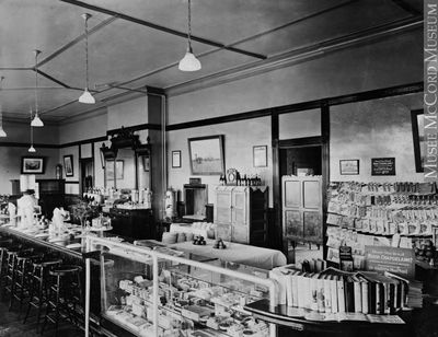 Lunch counter and news stand, Canadian Pacific Railway Station, Smiths Falls, 1922