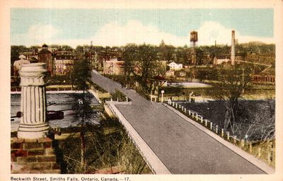 Beckwith Street, Smiths Falls postcard