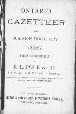 Ontario gazetteer and business directory 1886-7