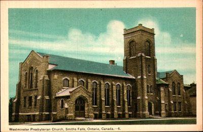 Westminster Presbyterian Church, Smiths Falls postcard