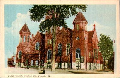 United Church, Smiths Falls postcard