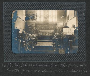 Interior of St. John's church, Smiths Falls by  Edwin Lester Brittain, 1905