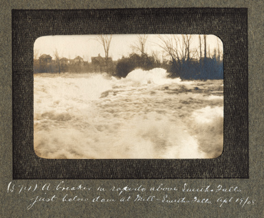 View of Smiths Falls and the Rideau River by  Edwin Lester Brittain, 1908